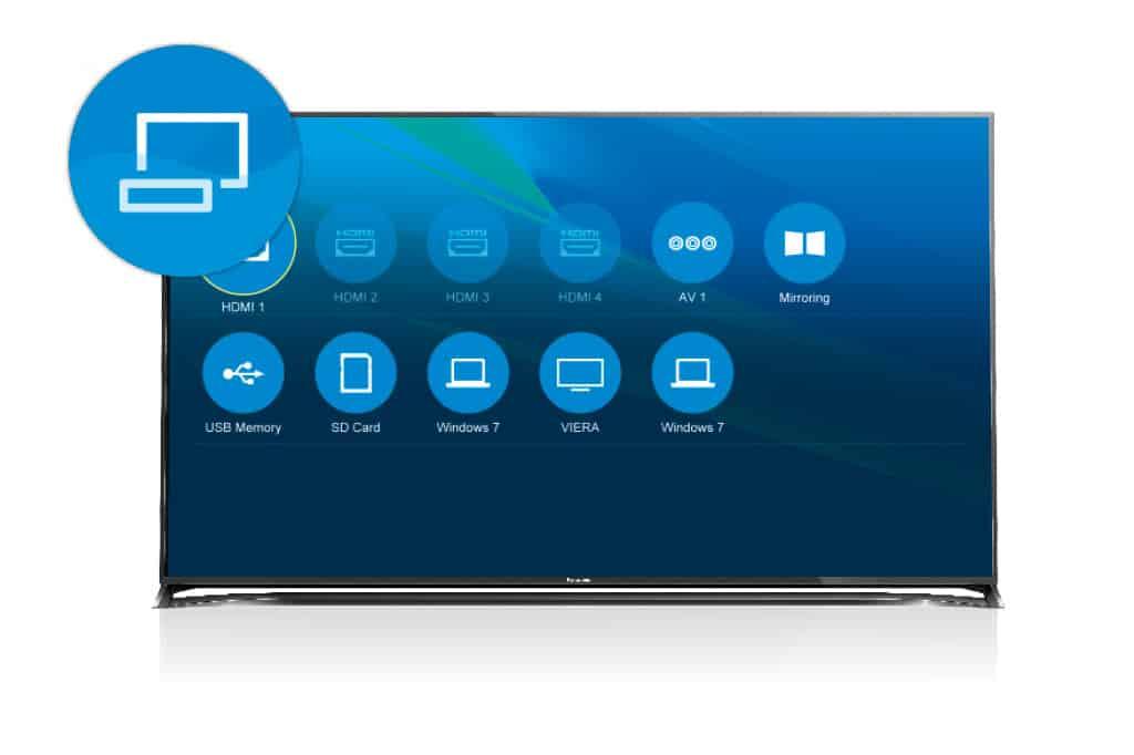 Auf dem Geräte-Deck sehen Sie, welche Geräte per Kabel oder WiFi mit dem VIERA verbunden sind – so haben Sie immer einen schnellen Zugang zu externen Quellen wie Tablet, PC, Blu-ray Player, aber auch SD-Karten oder USB-Speichersticks.
