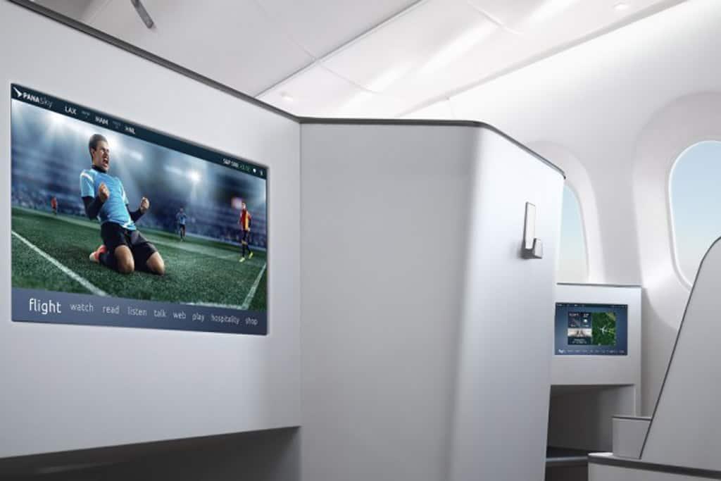 Seatback Screens: Auch im Economy-Bereich verbaut Panasonic Avionics immer mehr HD-Touchscreen-Displays im 16:9-Format