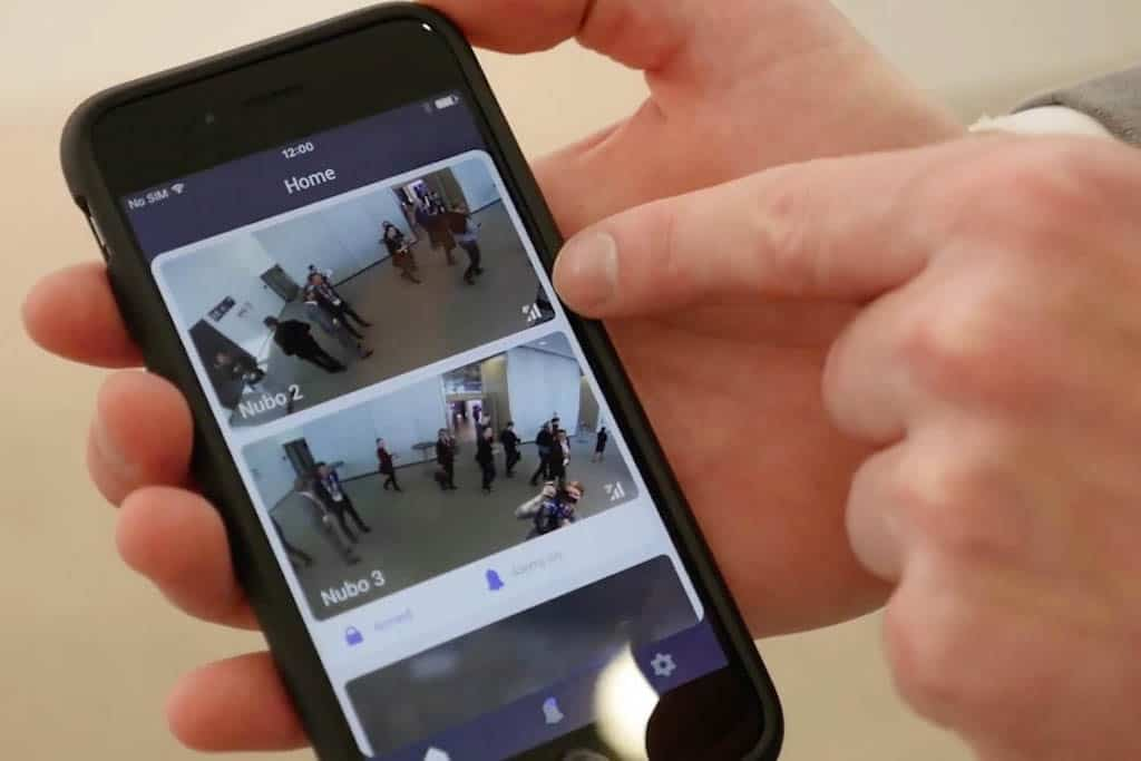 iPhone App der Nubo Mobile Security Cam von Panasonic