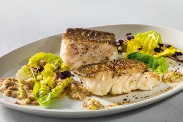 Geräucherten Kabeljau mit Champignon-Sellerie-Remoulade genießen!
