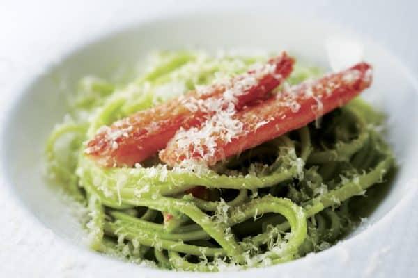 Linguine mit Krebsfleisch und Brokkoli