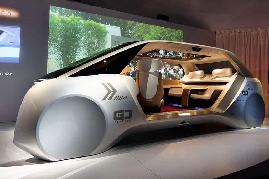 """""""Das Zukunftsauto"""": Die selbstfahrende Komfortzone begeistert bei der CES 2018"""
