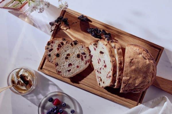 Rosinenbrot mit Cranberries