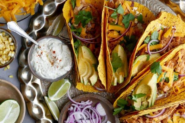 Chicken Tacos mit Avocado