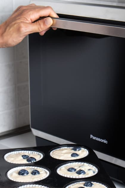 Heidelbeermuffins aus der Mikrowelle