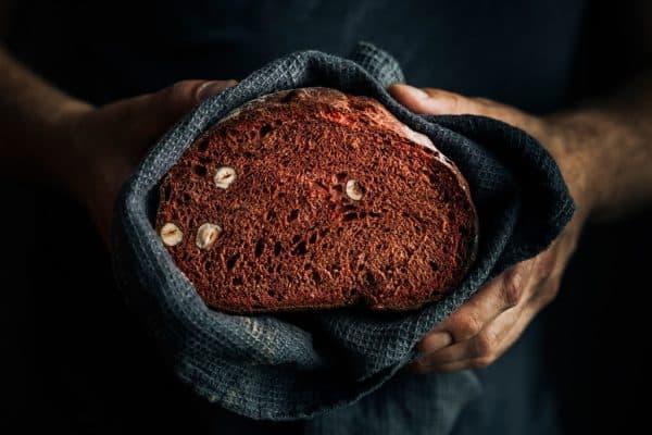 Dinkelvollkornbrot mit Rote Bete Saft