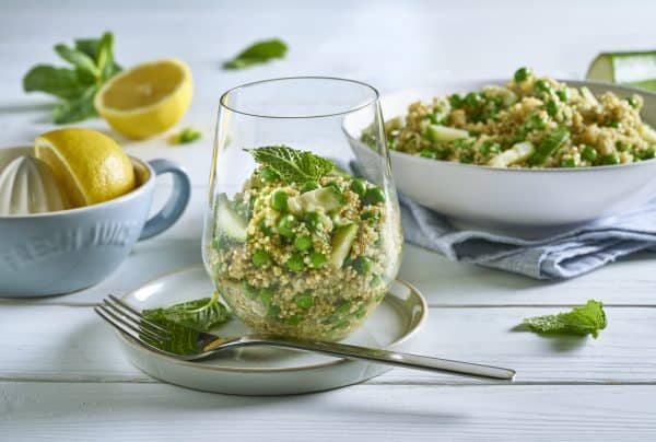 Geniale Grillbeilage: Quinoa Tabbouleh mit Minze