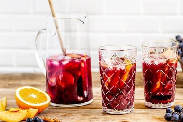 Rezept für alkoholfreie Sangria