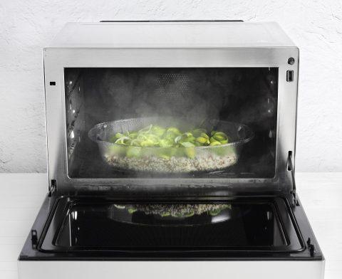 Quinoa, Brokkoli und Lauch dampfgaren
