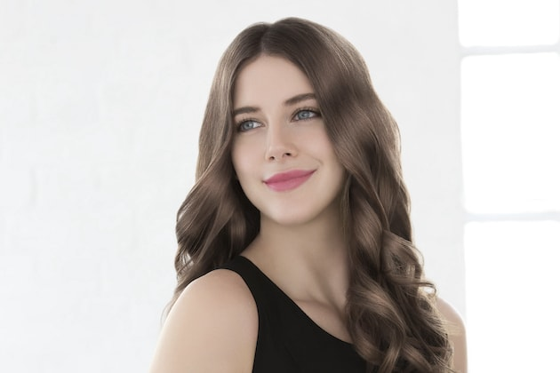 Styling mit Haarglätter