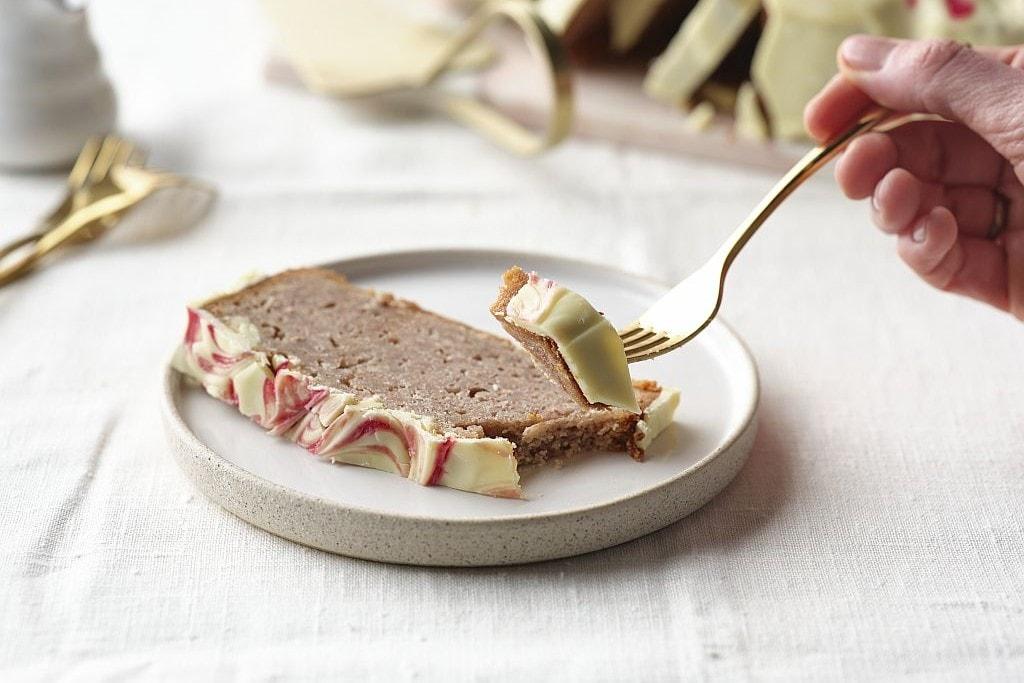 Rezept für Mandelkuchen mit Himbeeren.
